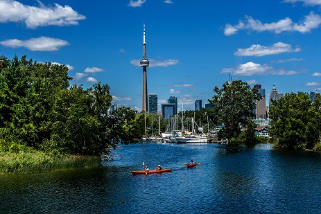 View of Downtown Toronto from the Toronto Islands